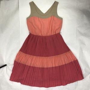 The Limited Women's Medium Pink Orange Shift Dress